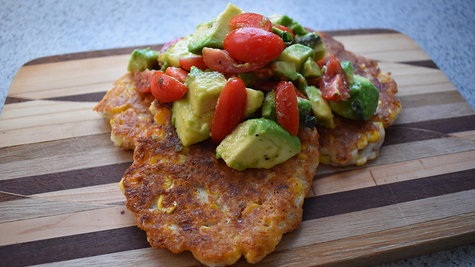 Sharon's fantastic corn fritters