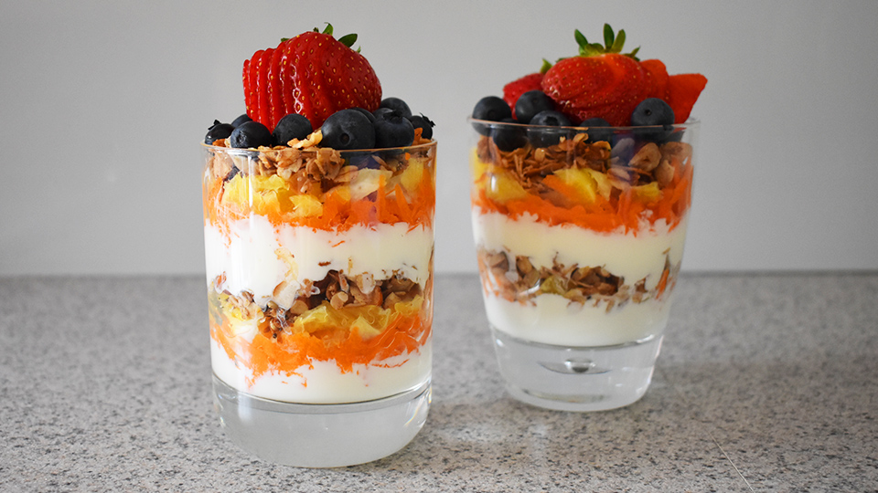 Healthy breakfast parfait
