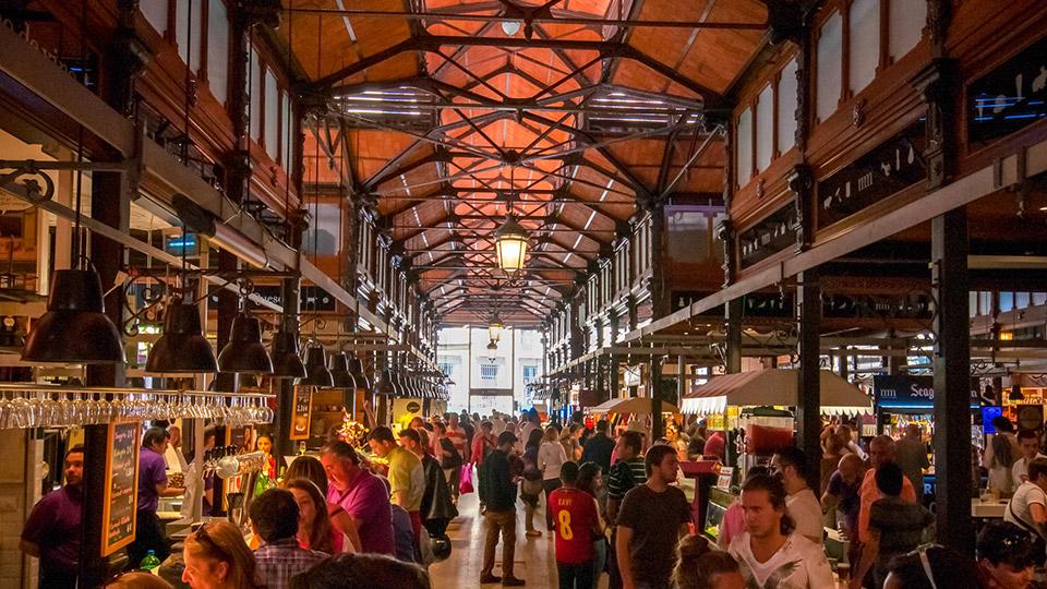 San Miguel Market in Madrid, Spain.