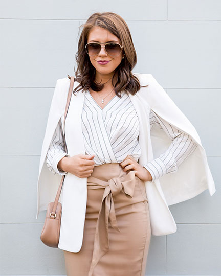 The pencil skirt is a classic piece for the work wardrobe.