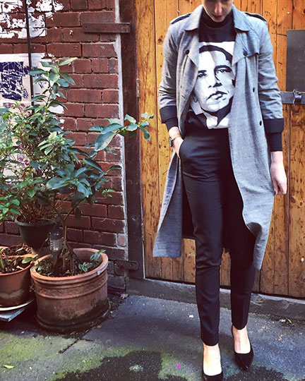 Tailored black pants are a wardrobe classic. Image: Styled by Sally.