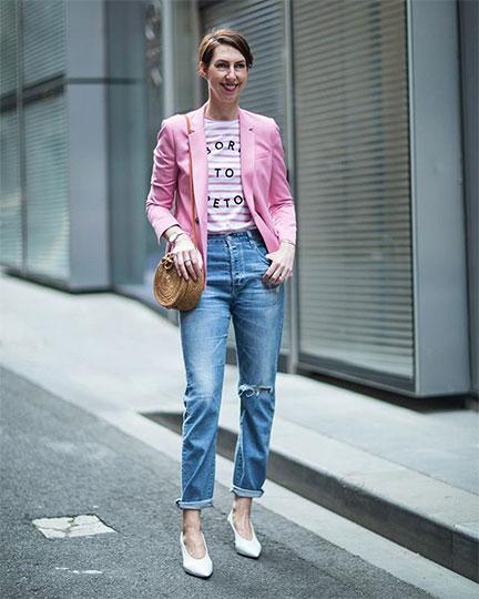 A classic blazer is Sally Mackinnon's style staple