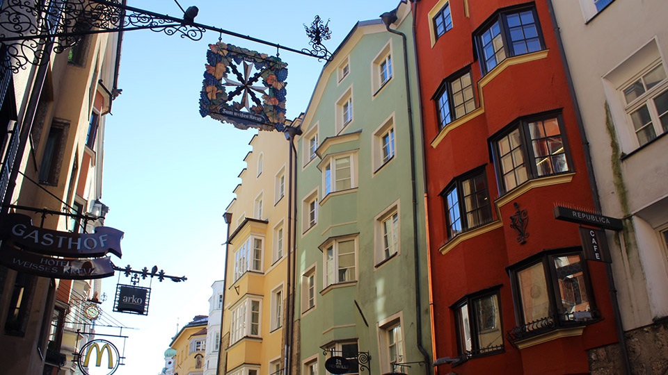 Old town Aldstadt Innsbruck Austria