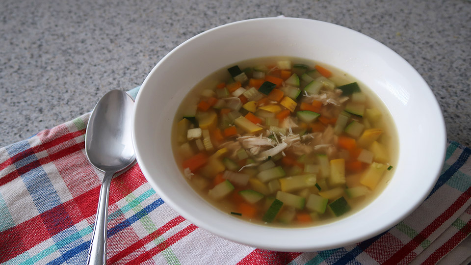 Recipe: Low fructose chicken soup (no onion or garlic)