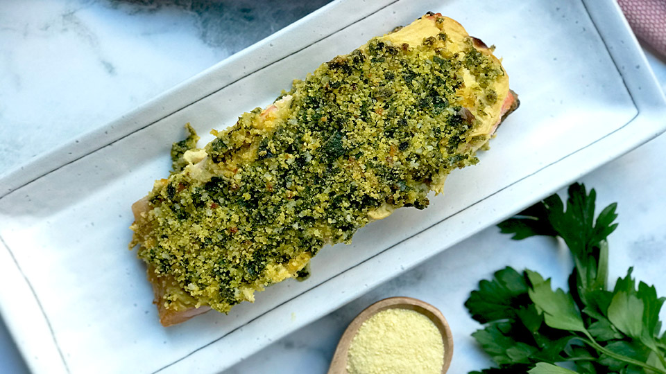 Recipe: Low FODMAP crusted salmon - SHE DEFINED