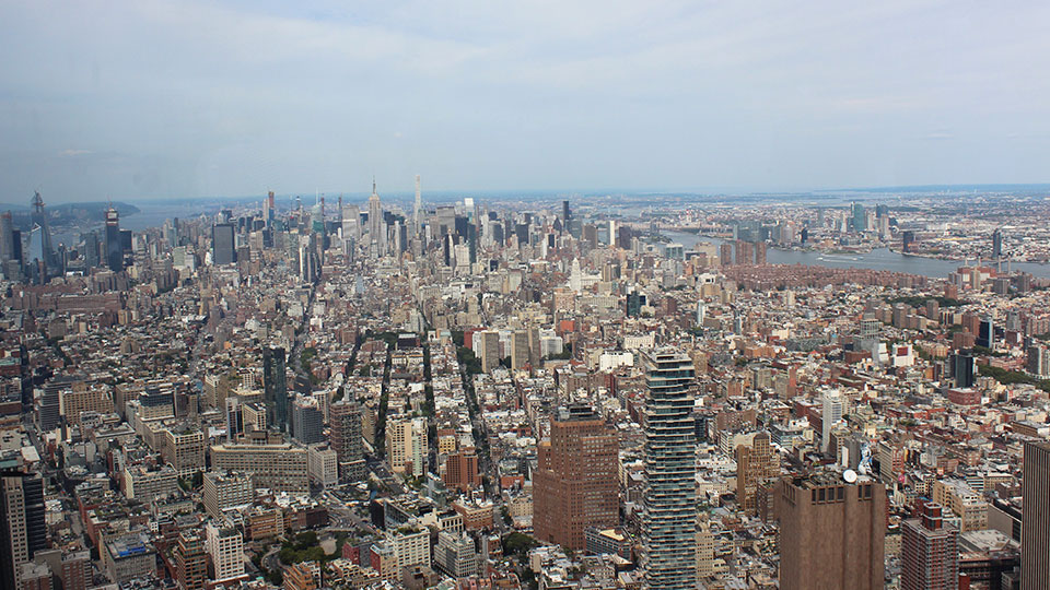View from One World Observatory, New York City