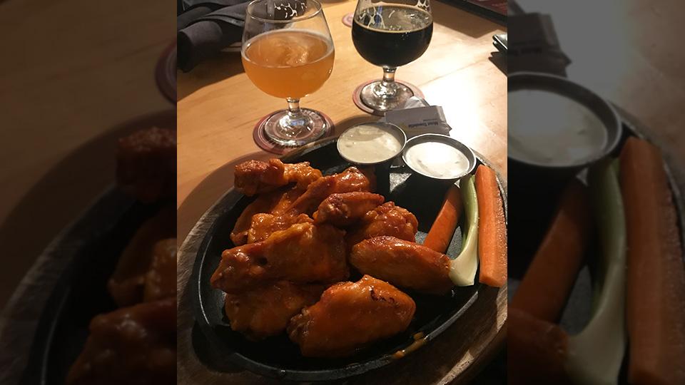 Rock Bottom Brewery buffalo wings
