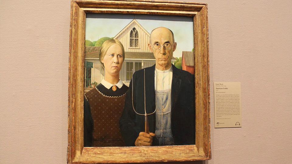 American Gothic at Art Institute of Chicago