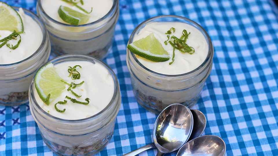 Recipe: Individual key lime cheesecakes