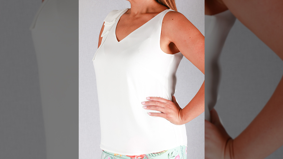 Blanc de blancs top Andrea Lucy Designs