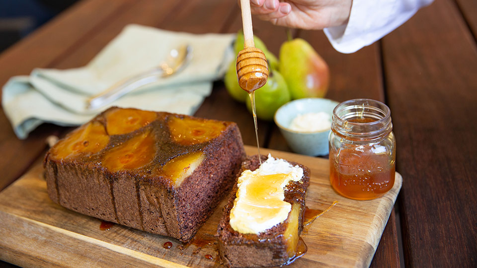 Recipe: Caramalised pear bread