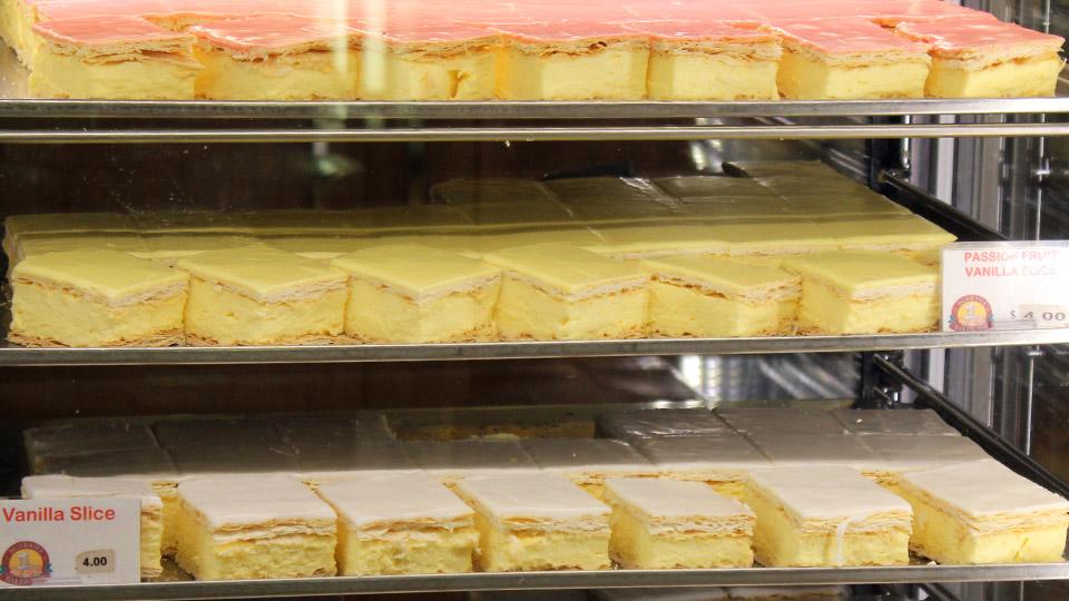 Bourkies Bakehouse vanilla slice