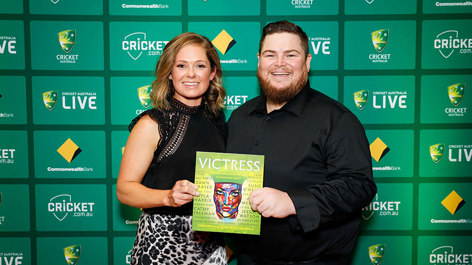 Corinne Hall and Michael Randall at the launch event for Victress