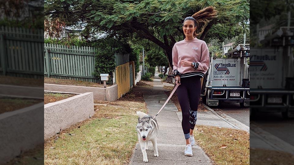 Erin Holland with dog Sicari