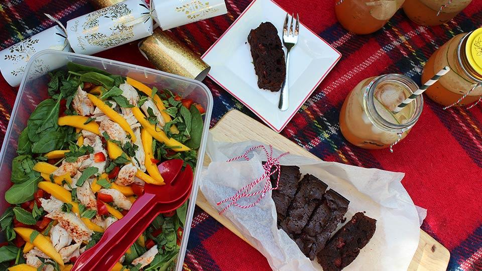 Festive picnic for Christmas celebrations