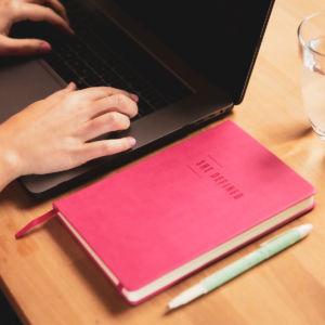 SHE DEFINED laptop in situ