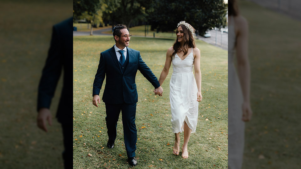 Emma Lennon: A drive-through wedding allowed us to get married during a pandemic